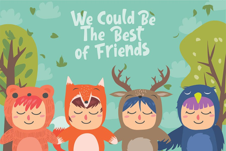 We Could Friends - Vector Illustration