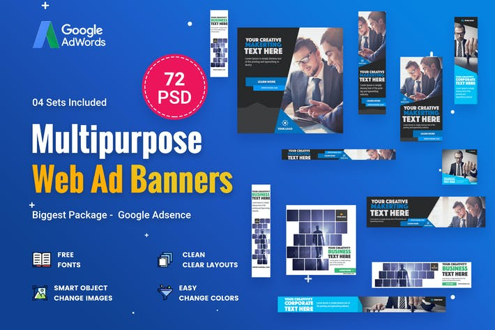 Thumbnail for Multipurpose, Business Banners Ad - 72 PSD