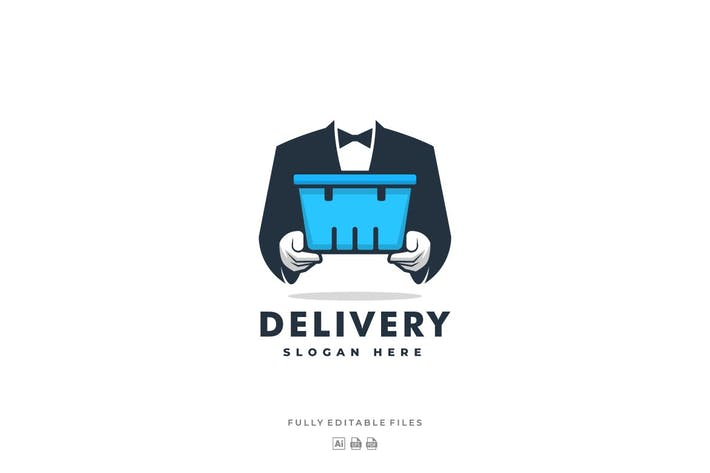 Thumbnail for Delivery Man Logo