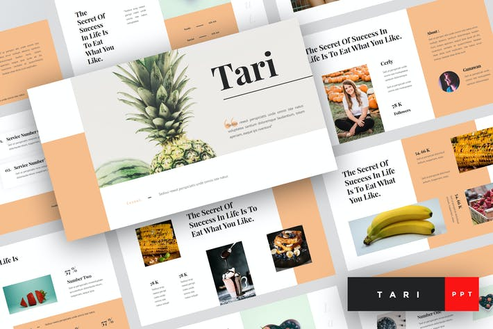 Thumbnail for Tari - Food PowerPoint Template