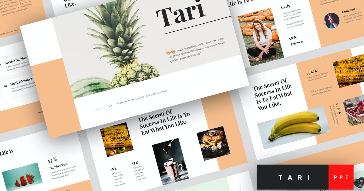 Download Tari - Food PowerPoint Template by StringLabs