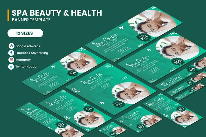 Thumbnail for Spa Beauty & Health Google AD Template