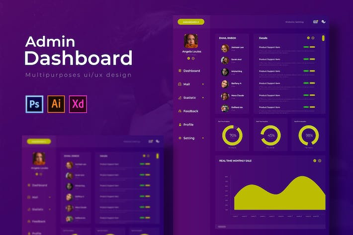 Thumbnail for Clover Dashboard | Admin Template