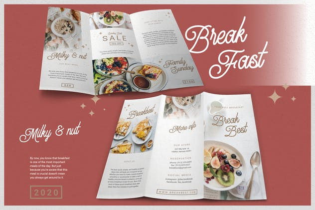 Fresh Minimalist Restaurant - Brochure