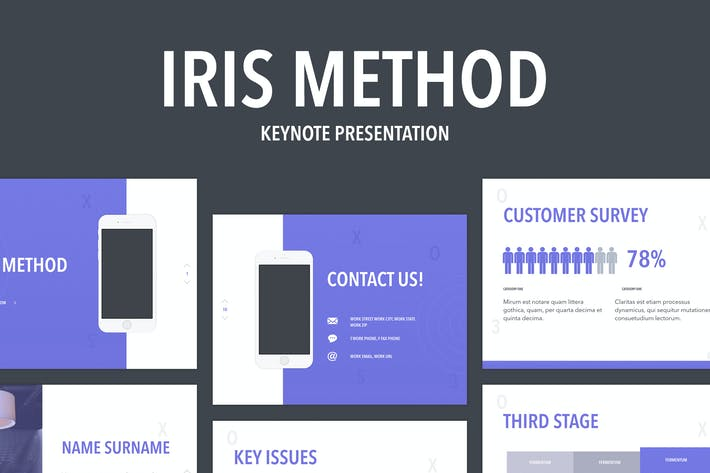 Thumbnail for Iris Method Keynote Template