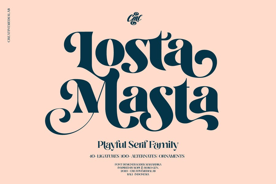 Losta Masta Font - Groovy Retro Con serifa Family