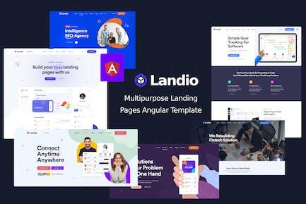 Landio - Landing Page Angular Template