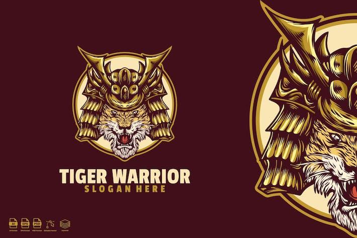 Thumbnail for tiger warrior logo template