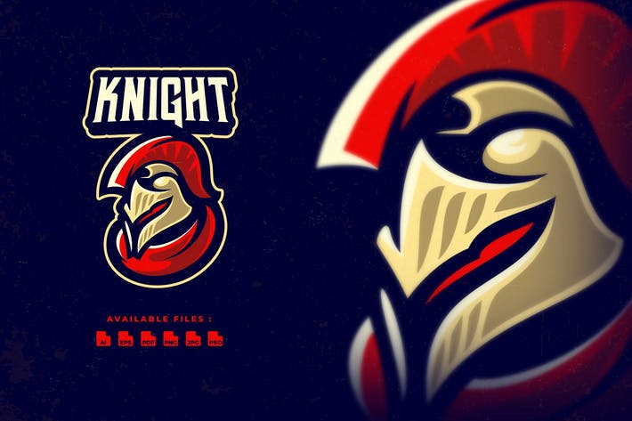 Thumbnail for Knight Sport and Esport Logo