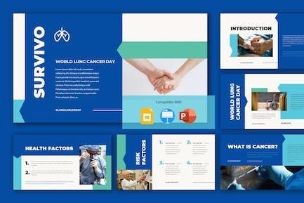 SURVIVO - Всемирный день рака легких презентация Templ