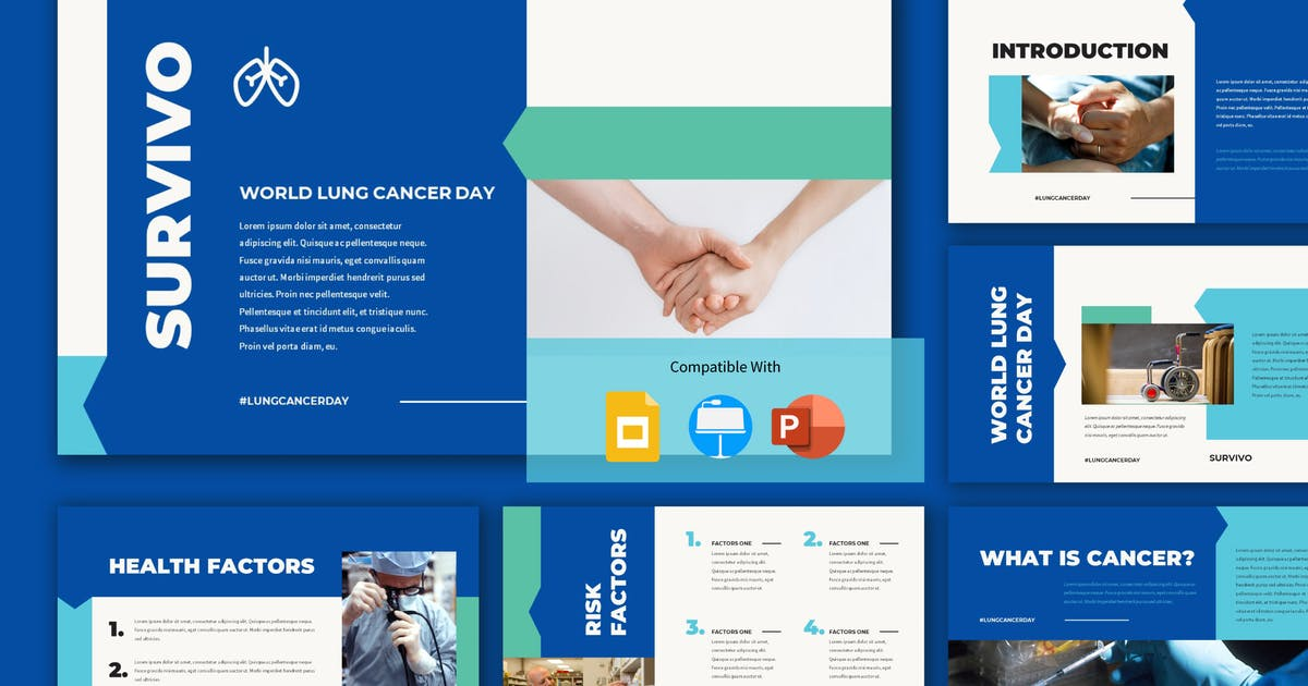 Download SURVIVO - World Lung Cancer Day Presentation Templ by inipagi