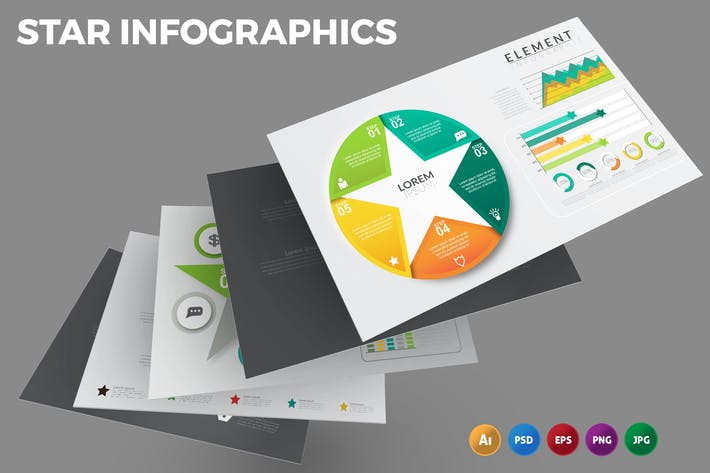 Thumbnail for Star – Infographics Design