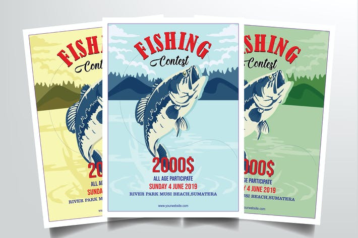 Thumbnail for Fishing Contest Flyer Template