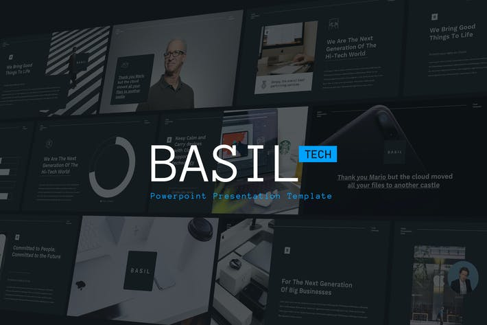 Thumbnail for BASIL - Technology Theme Powerpoint Template