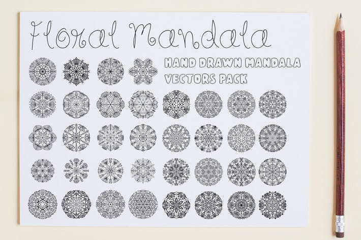 Thumbnail for Floral Mandala Vector Pack