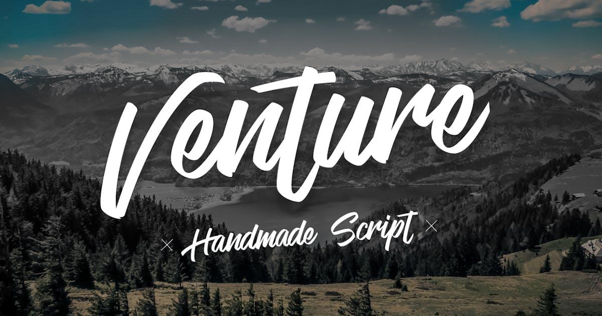Download Venture -  Handmade Font Script by micromove