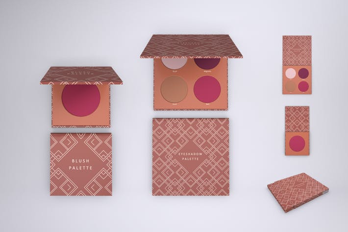 Blush and Eyeshadow Palette Mock-up