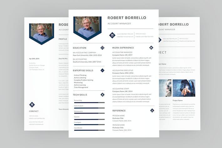 Thumbnail for Robert Account Resume Designer
