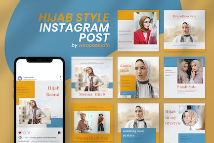 Hijab Style Instagram Post Template