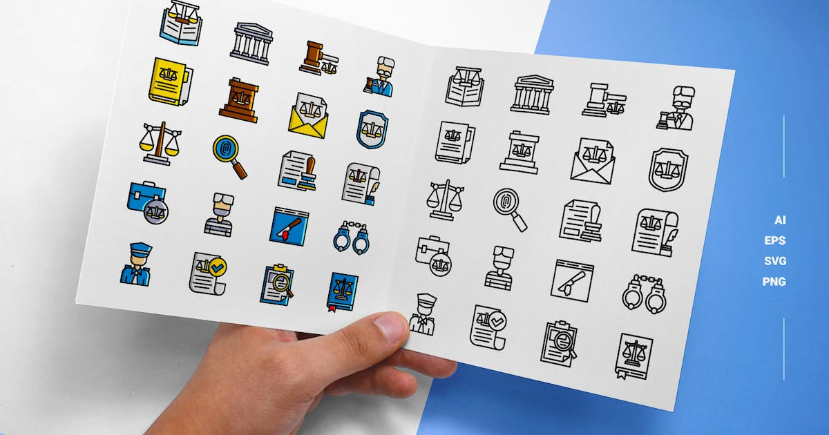 Download Law & Justice - Icons by esensifiksi