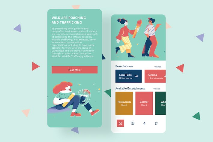 Thumbnail for Creativity Mobile Interface Illustrations