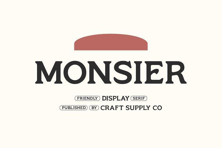 Thumbnail for Monsier - Serif d'affichage convivial