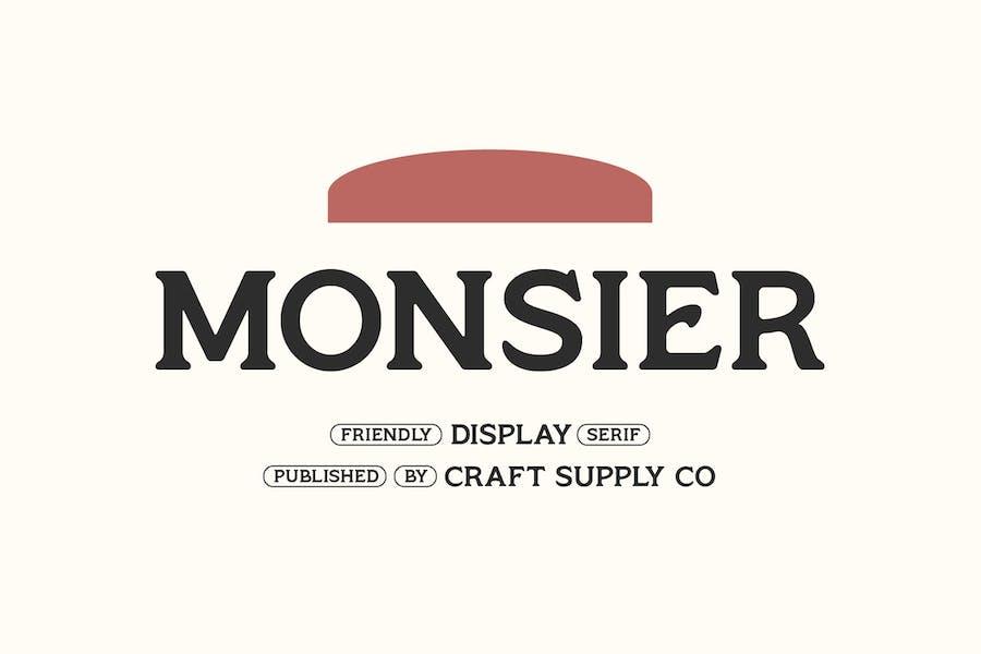 Monsier - Friendly Display Serif
