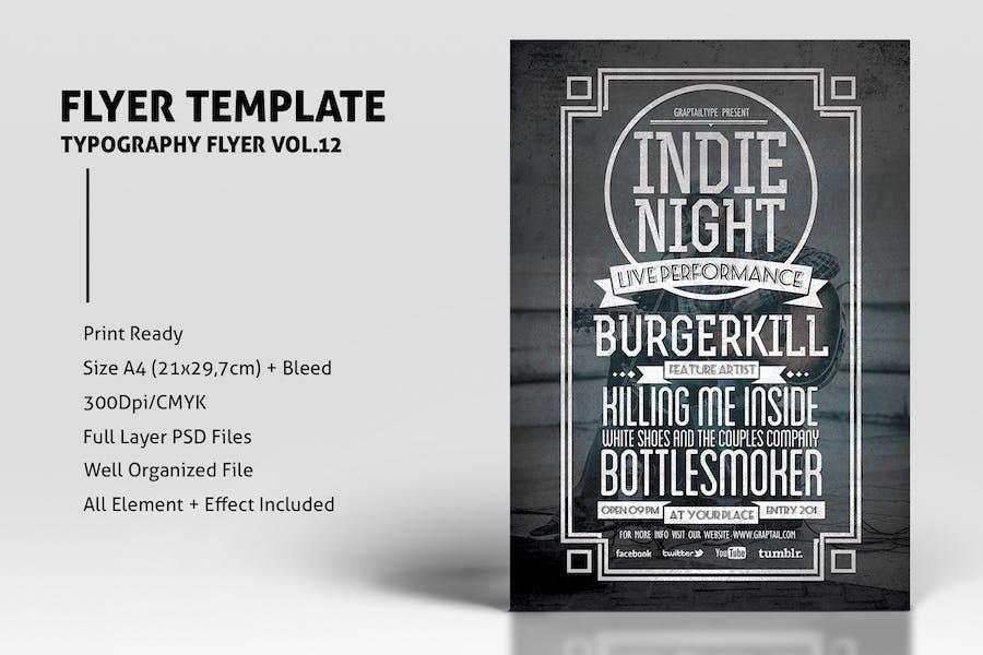 Typography Flyer Vol.12