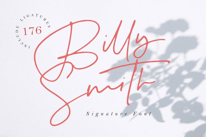 Thumbnail for Billy Smith - Signature Font MS
