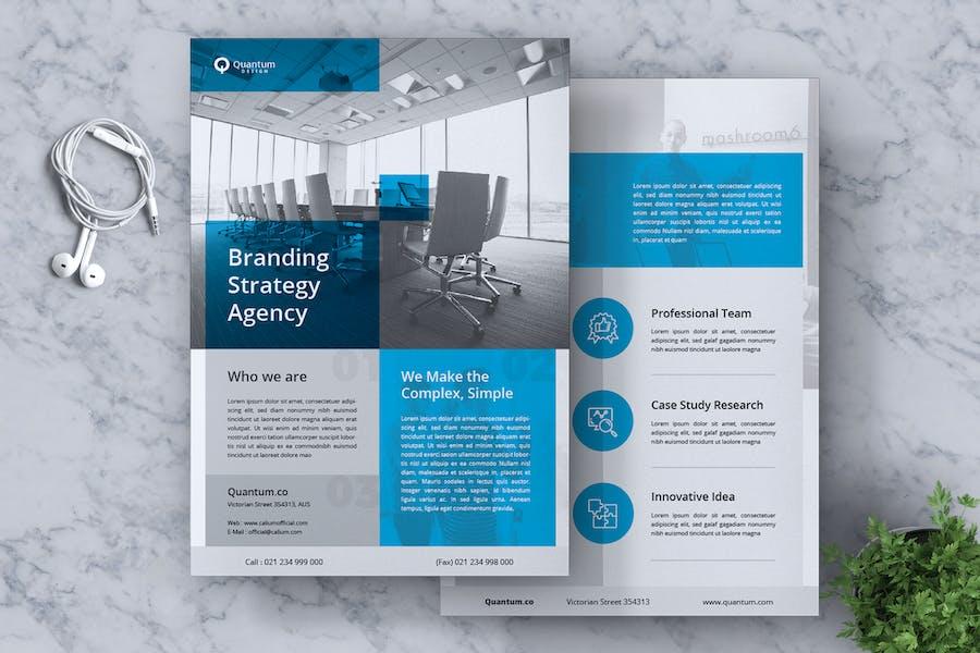 QUANTUM Corporate Business Flyer
