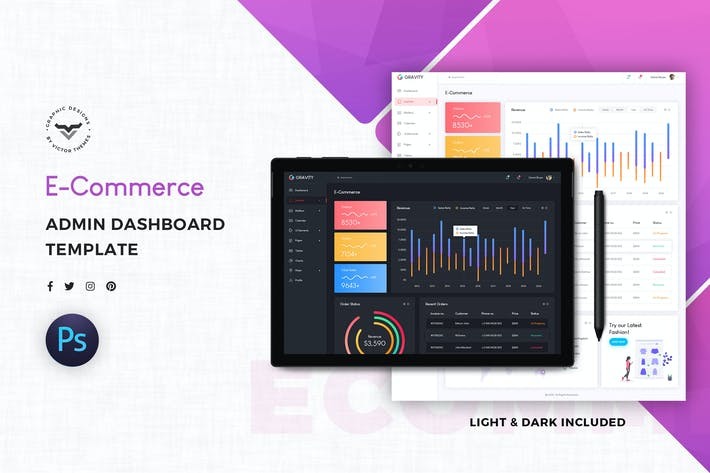 Thumbnail for E-Commerce Admin Dashboard UI Kit