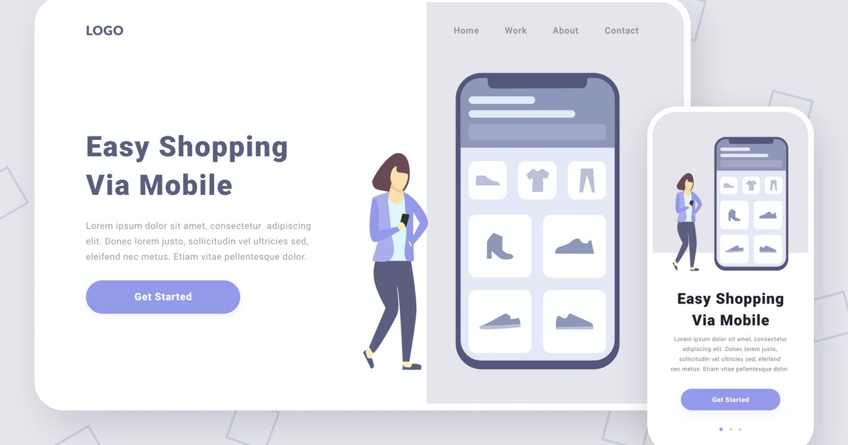 Download Shopping via mobile illustration by buydesign