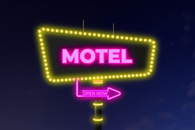 Neon Motel Sign Mockup