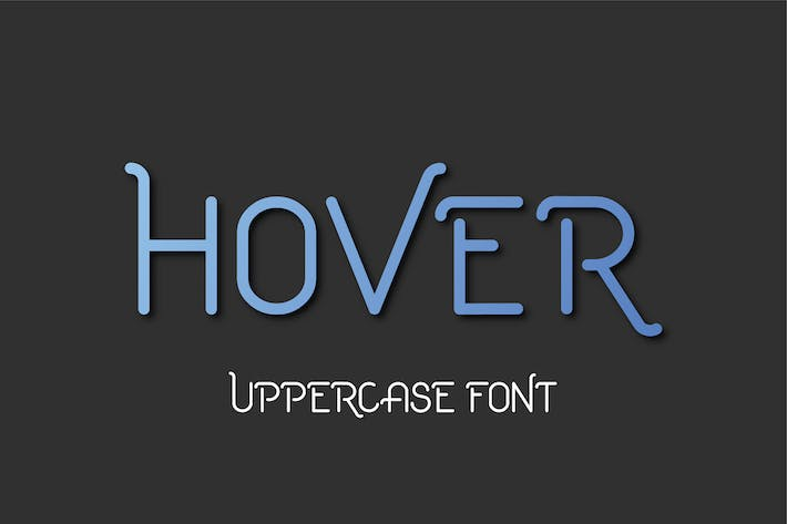 Cover Image For Hover Uppercase Font