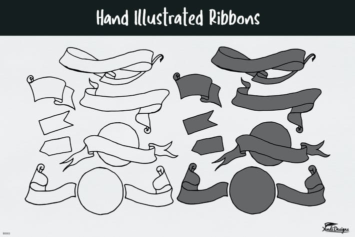 Thumbnail for Hand illustrated Ribbons