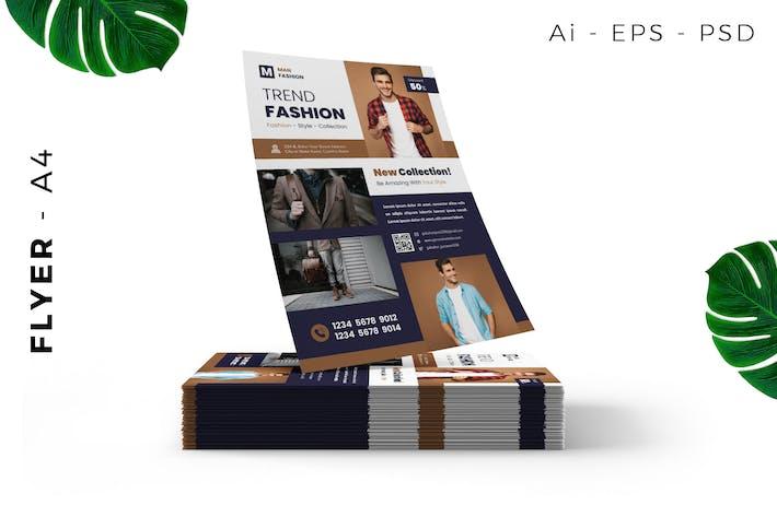 Thumbnail for Man Fashion Flyer Design