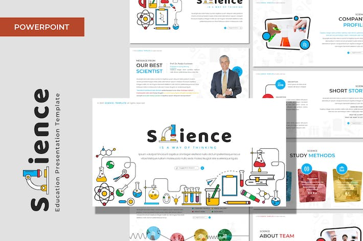 Thumbnail for Science - Education Powerpoint Template