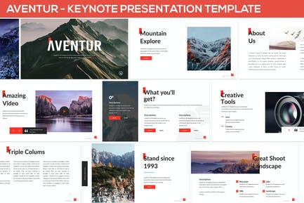 Aventur - Keynote Presentation Template