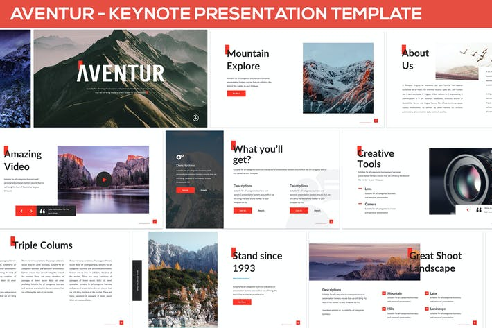 Thumbnail for Aventur - Keynote Presentation Template
