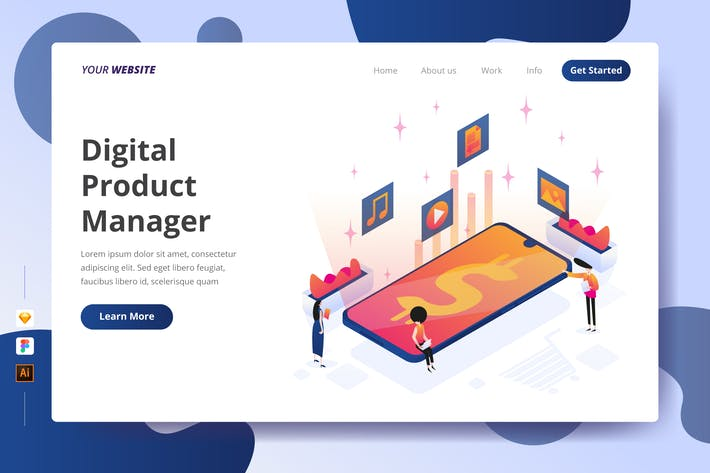 Digital Product Manager - Landing Page
