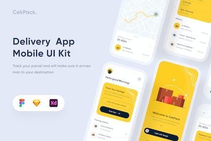 Mobile App für die Lieferung - Uixasset