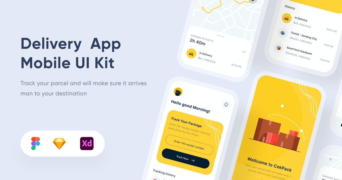Download Delivery Mobile App - Uixasset by GranzCreative