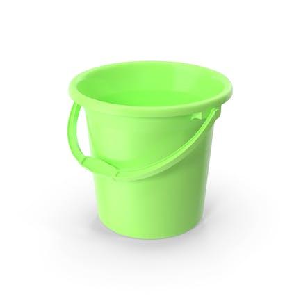 Cubo de baño de plástico