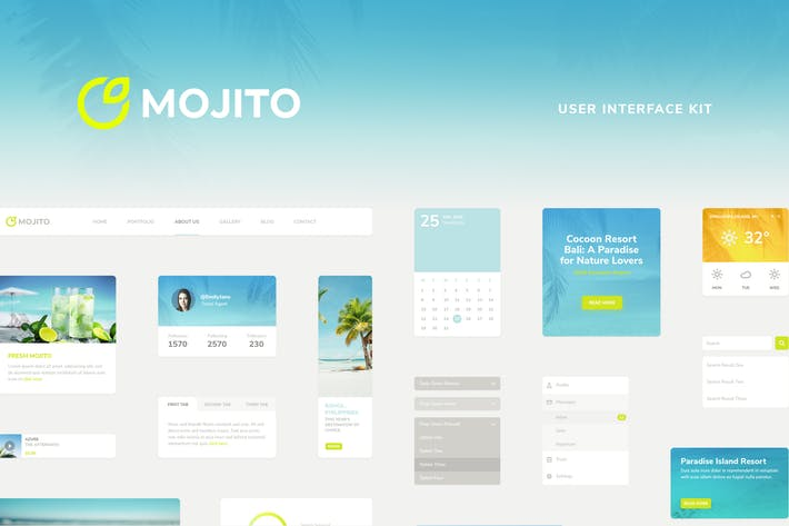 Cover Image For Mojito UI Kit
