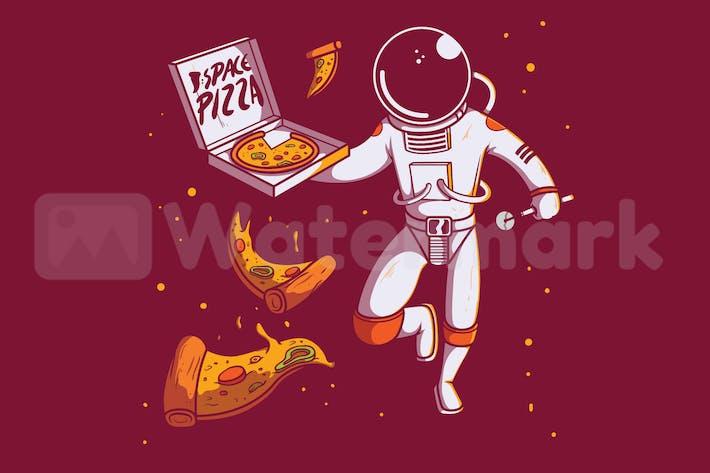 Weltraum Pizza