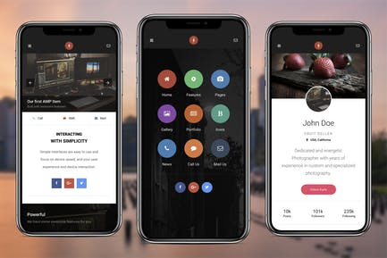 AMP Mobile | Google AMP Mobile Template