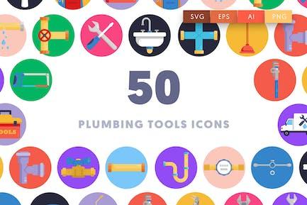 50 Plumbing Tools Icons