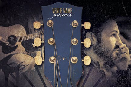 Acoustic Event Flyer/Poster Template Vol 2