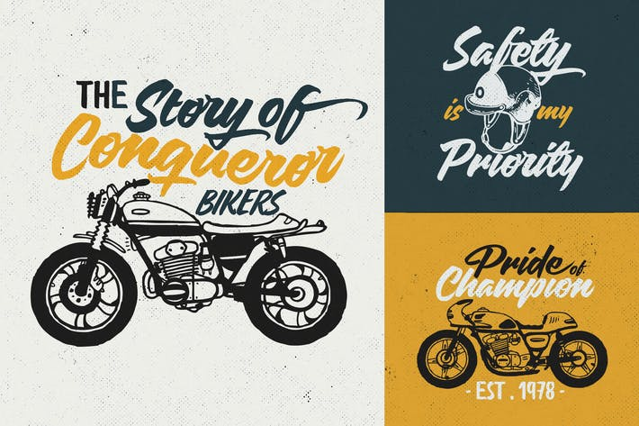 Thumbnail for Custom Motorcycle Culture Logo/ Badges Vol.1