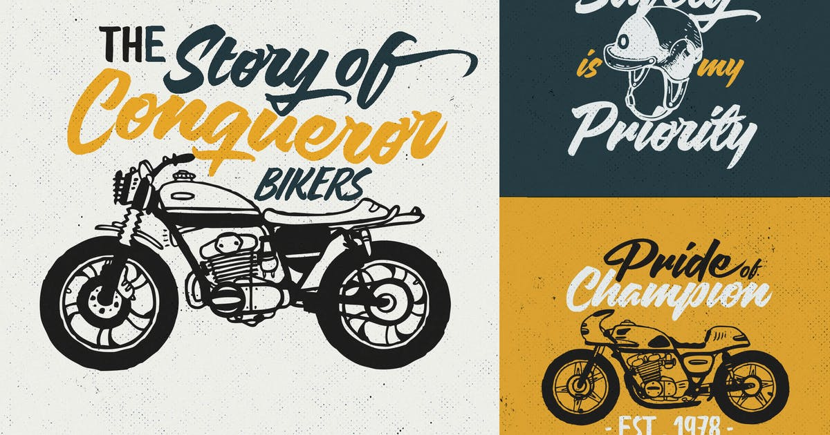 Download Custom Motorcycle Culture Logo/ Badges Vol.1 by VisualColony